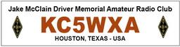 Logo Jake McClain Driver Memorial Amateur Radio Club KC5WXA 256