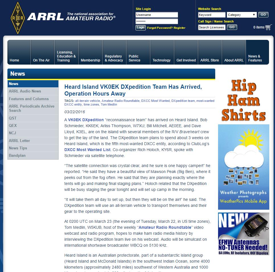 Nice ARRL News Item |